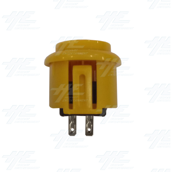 DIY Yellow Arcade Joystick and Buttons Kit for Arcade Machines - 24mm Yellow Button Side View