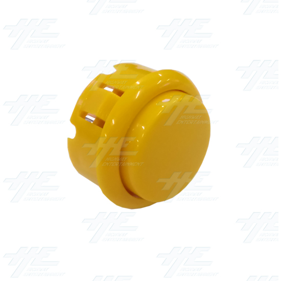 DIY Yellow Arcade Joystick and Buttons Kit for Arcade Machines - 30mm Yellow Button Angle View