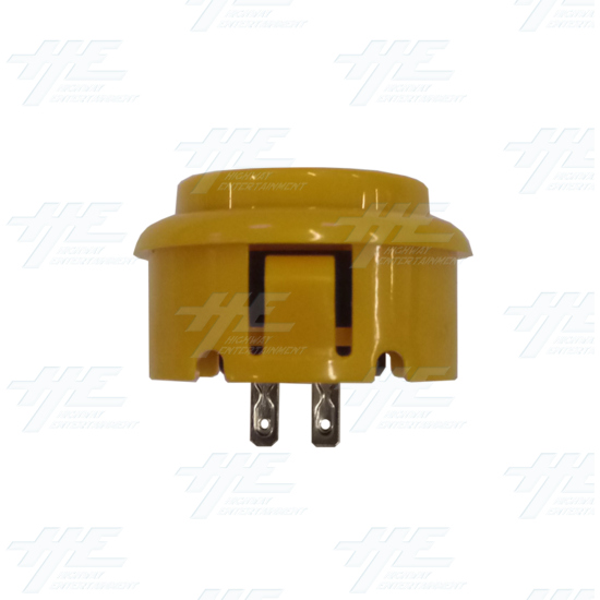 DIY Yellow Arcade Joystick and Buttons Kit for Arcade Machines - 30mm Yellow Button Side View