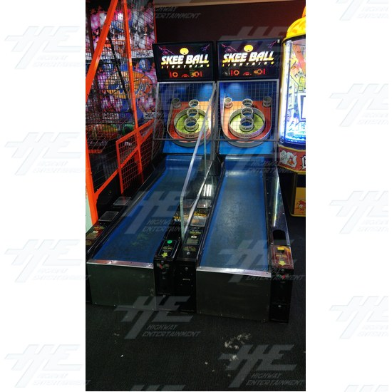 2x Skee Ball Lightning Arcade Machine - Actual Machine