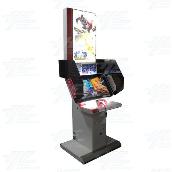 Pokken Tournament Arcade Machine - Pokken Tournament - Angle View 2
