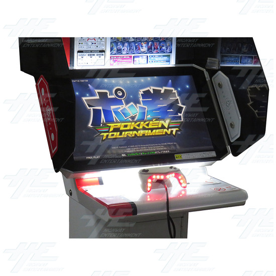 Pokken Tournament Arcade Machine - Pokken Tornament - Monitor and Panel View