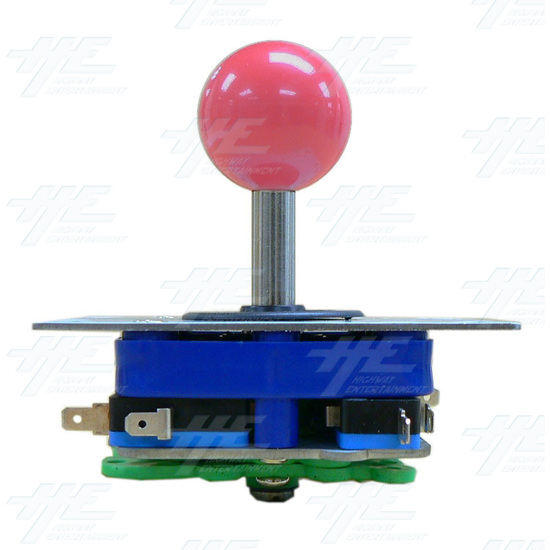 Pink Ball Top Joystick for Arcade Machine (Zippy Styled) - Side View