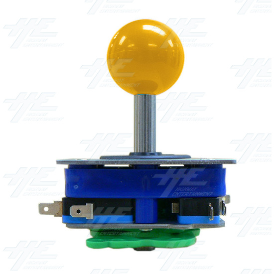 Yellow Ball Top Joystick for Arcade Machine (Zippy Styled) - Side View