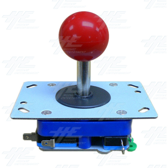 Red Ball Top Joystick for Arcade Machine (Zippy Styled) - Angle View