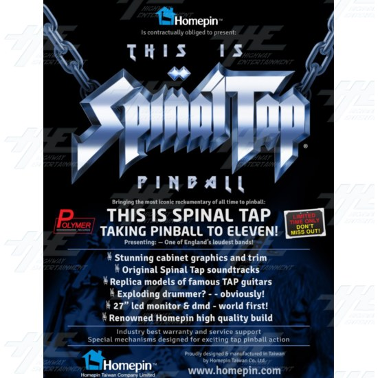 This is Spinal Tap Pinball Machine - This is Spinal Tap brochure